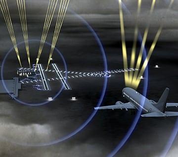 Rendering of Honeywell's SmartPath precision landing system