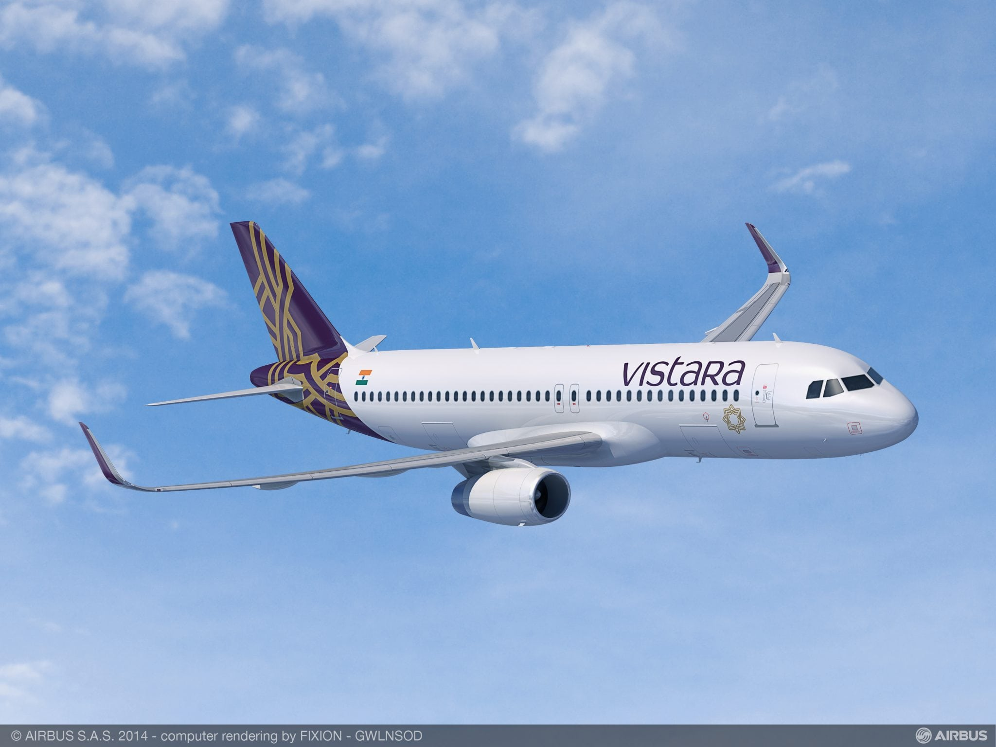 Vistara airlines flight, rendering