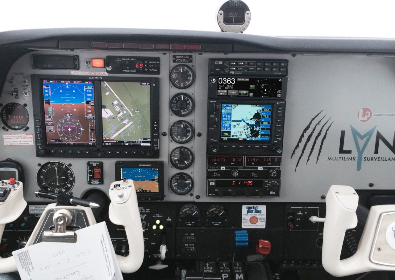 Lynx NGT-9000 MultiLink Surveillance System (MSS) in cockpit