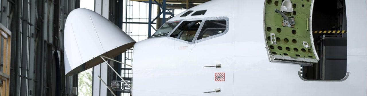 Aircraft undergoing avionics installations