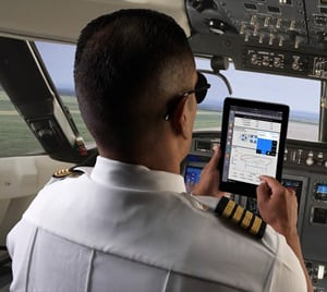 Pilot using Rockwell Collins flight planning, which can now be combined with FANS 1/A