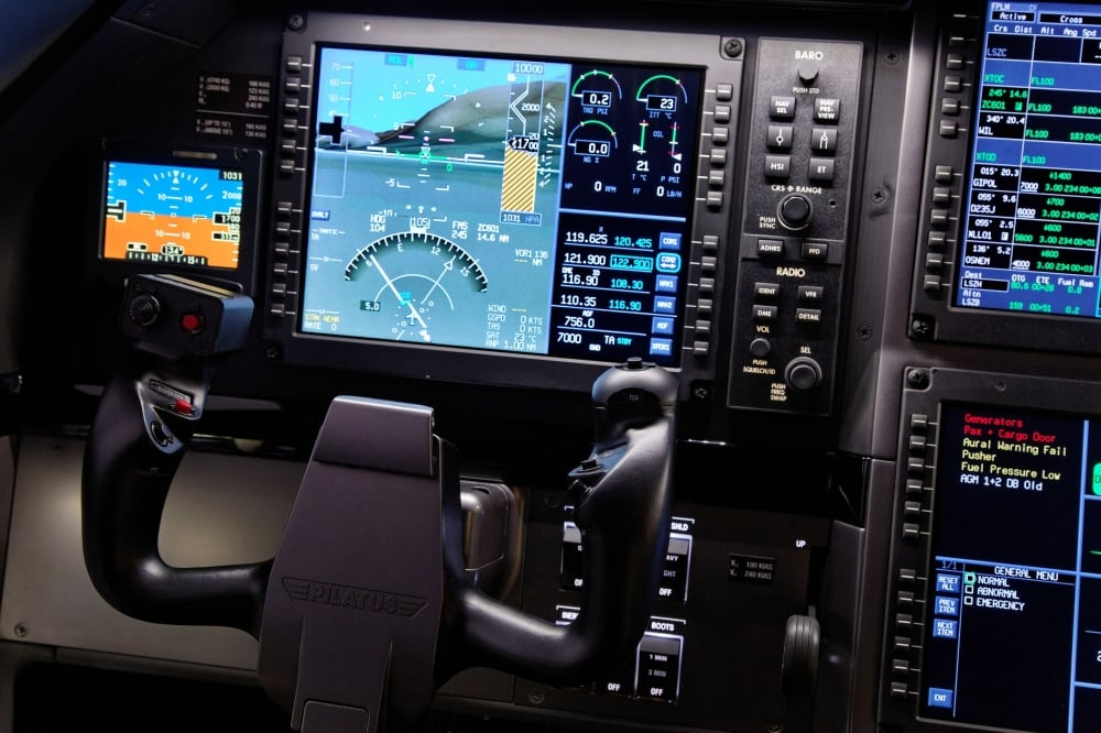 PC-12 cockpit. Photo: Pilatus Aircraft.