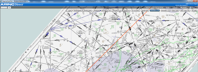 ARINCDirect routing map