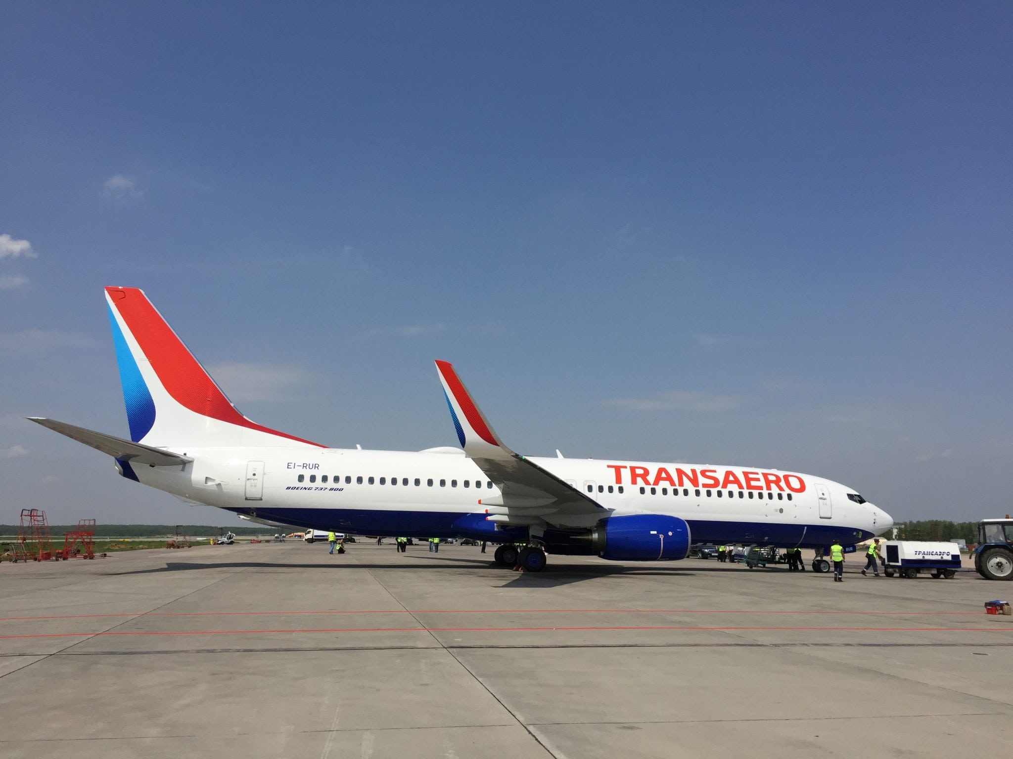 Transaero's first Next-Generation 737-800 with line fit in-flight connectivity