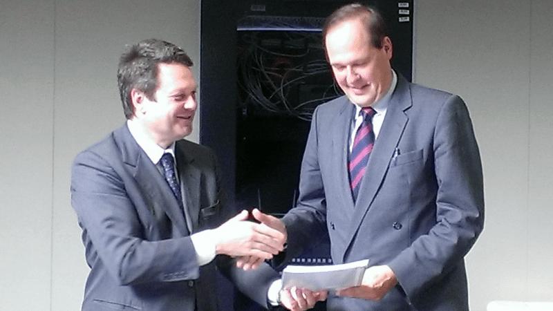 Eurocontrol's Director General Frank Brenner met with GSA Executive Director Carlo des Dorides in Prague.