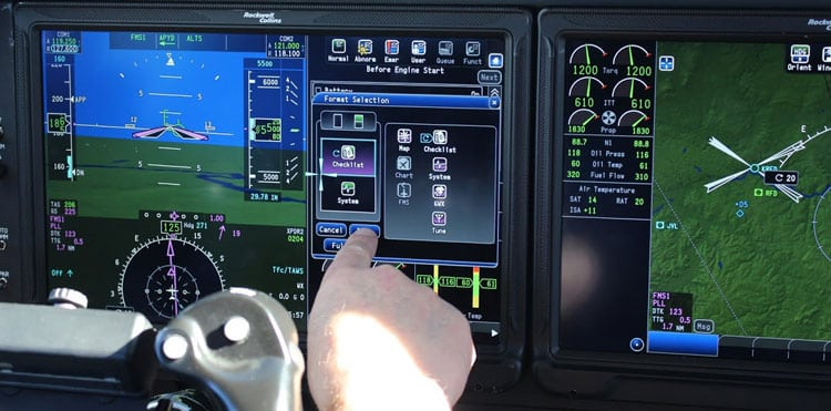 Pro Line Fusion King Air display