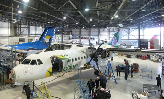 Inside view of Discovery Air Technical Services