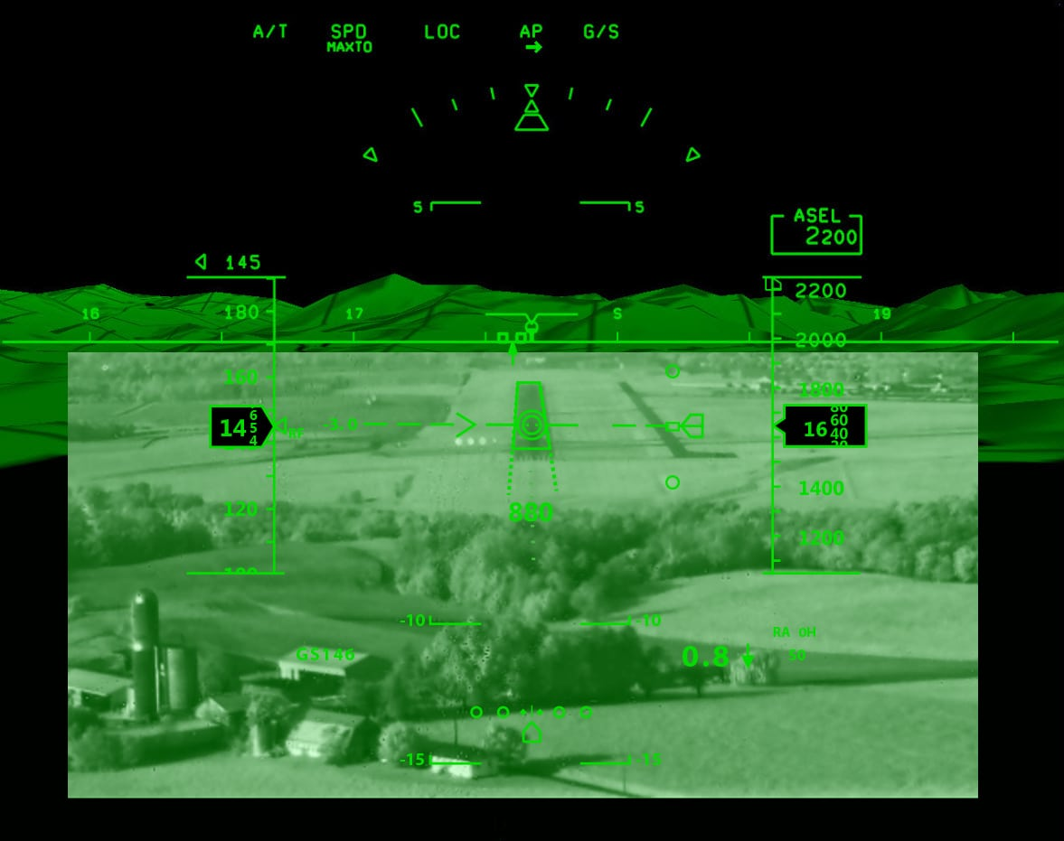 View from an Elbit Systems EVS