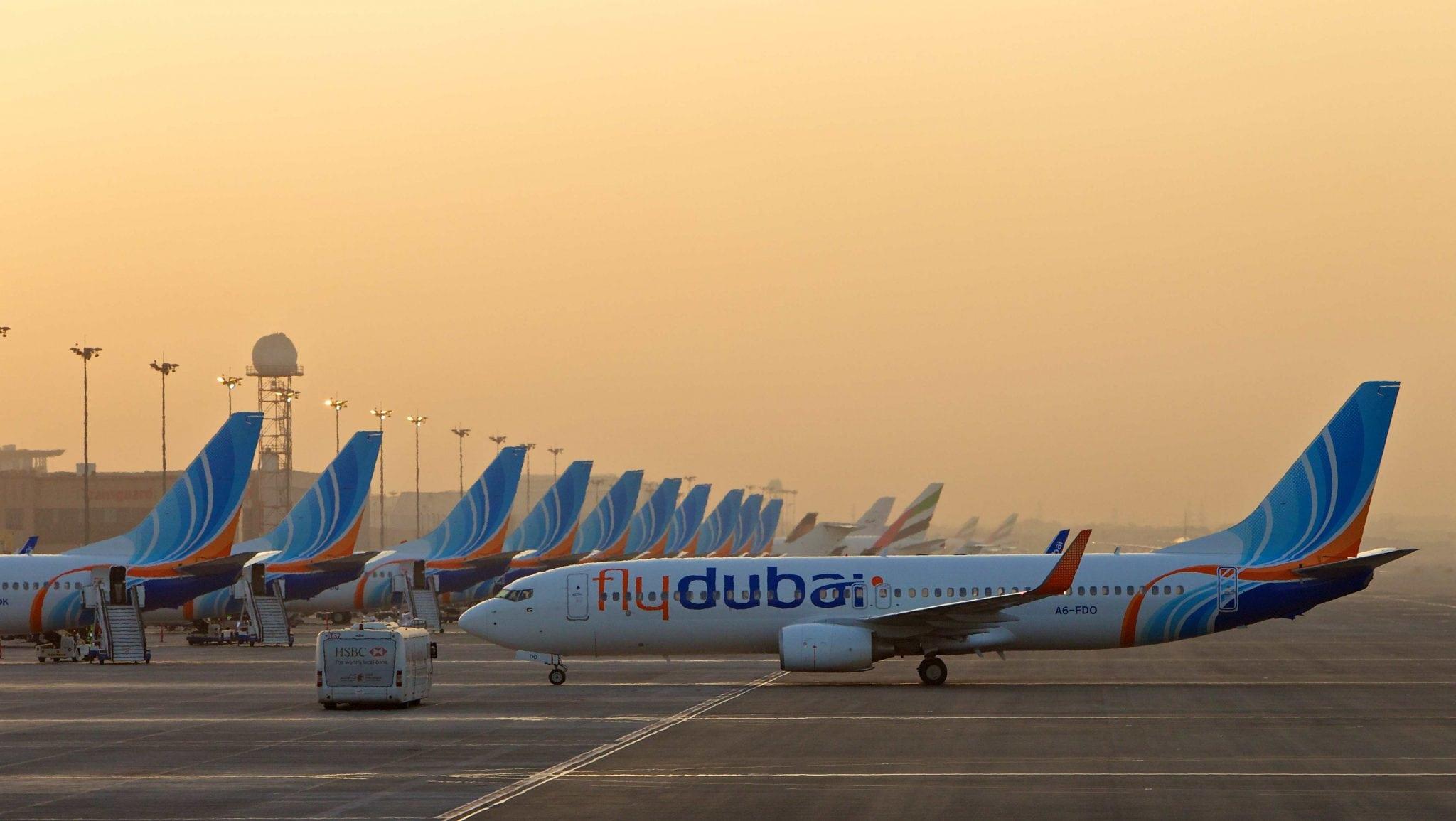 flydubai aircraft on runway