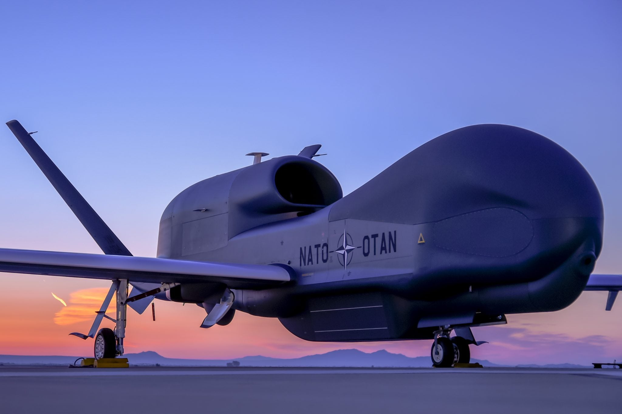The first NATO Alliance Ground Surveillance (AGS) aircraft
