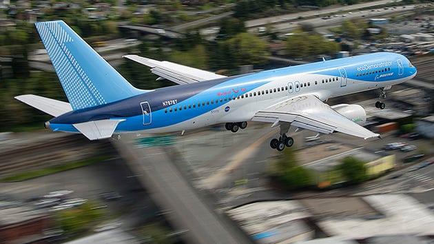 Boeing's ecoDemonstrator 757 aircraft