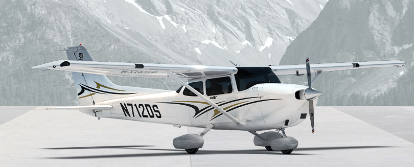 Cessna Skyhawk aircraft, rendering