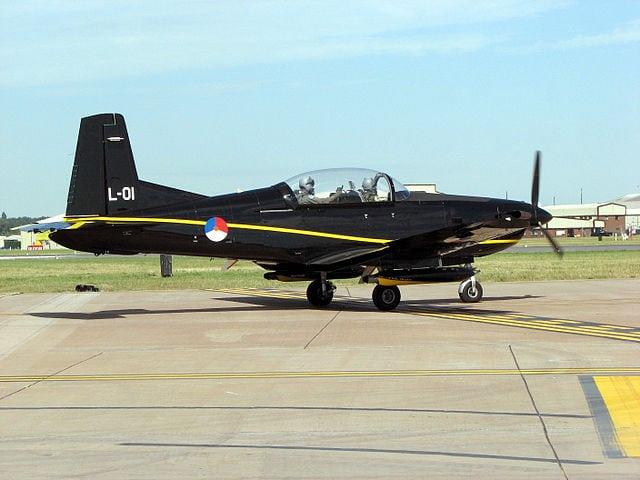 Pilatus PC-7 of the Royal Netherlands Air Force. Photo: Wikipedia