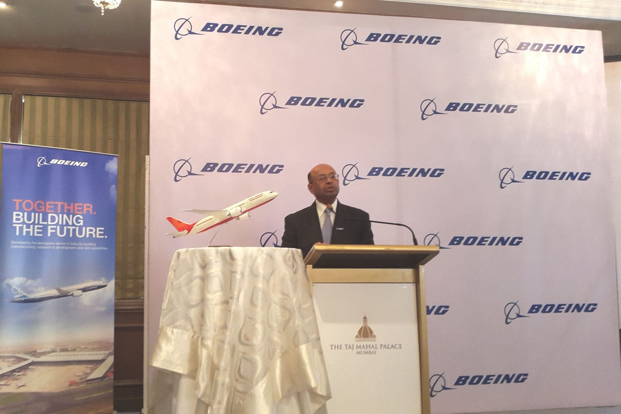 Dinesh Keskar, senior vice president of Asia Pacific and India Sales, Boeing Commercial Airplanes, announcing the company's India Current Market Outlook
