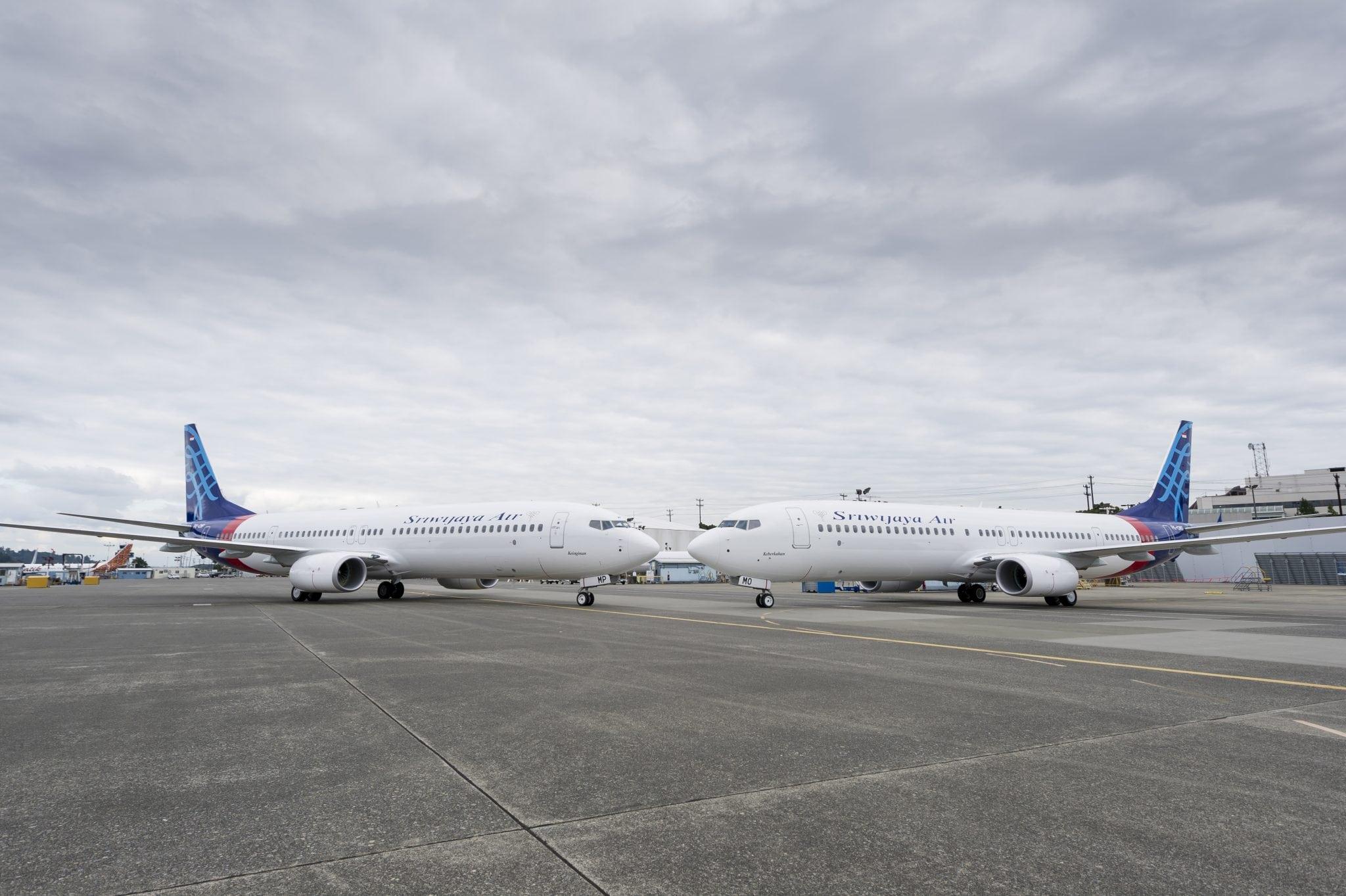 Sriwijaya's new Boeing 737 aircraft
