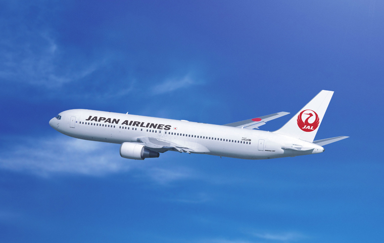 Japan Airlines aircraft, rendering