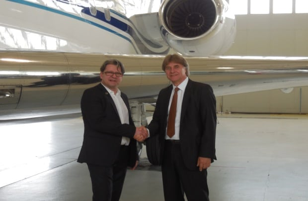 Ornulf Hilarius, CEO of OHS Aviation Services and Christoph Meyerrose, CEO of LBAS