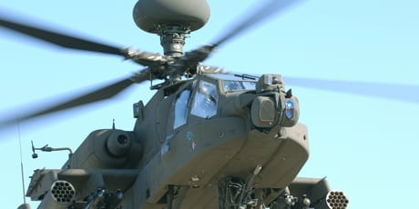 The Modernized Target Acquisition Designation Sight/Pilot Night Vision Sensor (M-TADS/PNVS) system to be installed on US Army Apache attack helicopter