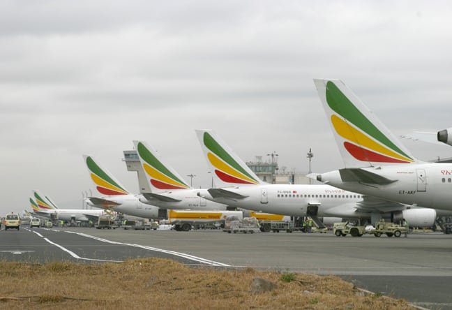 Ethiopian Airlines aircraft tails