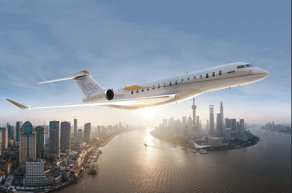 Bombardier's Global 7000 aircraft