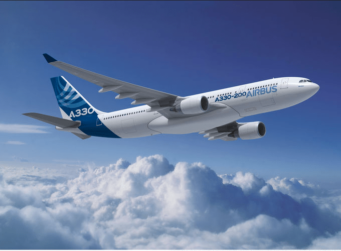 Artist rendering of Airbus' A330-200 new 242-ton Maximum Take-Off Weight variant recently certified by EASA