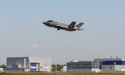 Italy's first F-35A Lightning II, known as AL-1