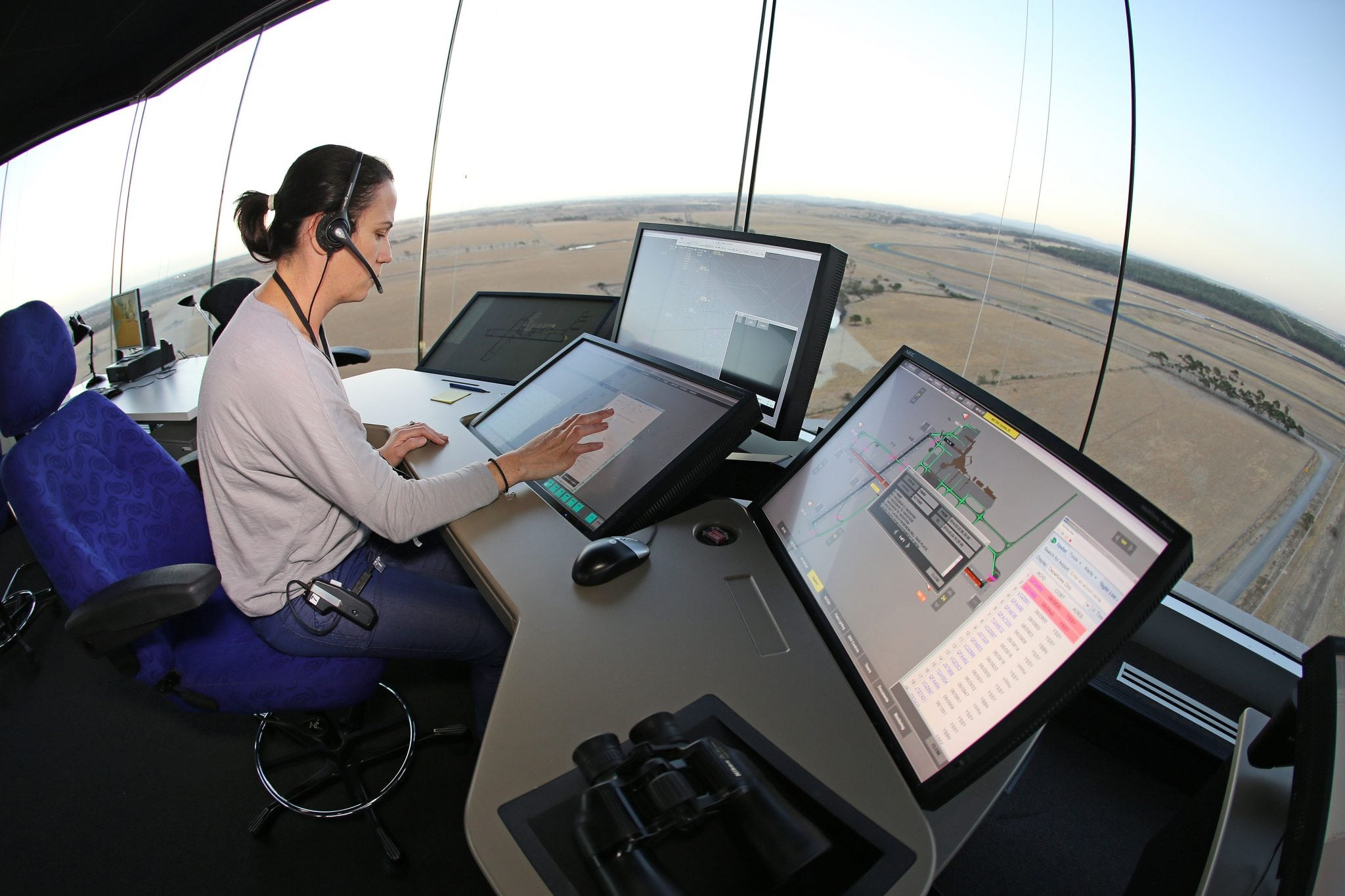 Airservices air traffic control tower at Melbourne Airport