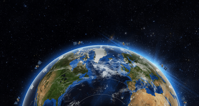 Artist rendering of space-based ADS-B. Photo: Aireon