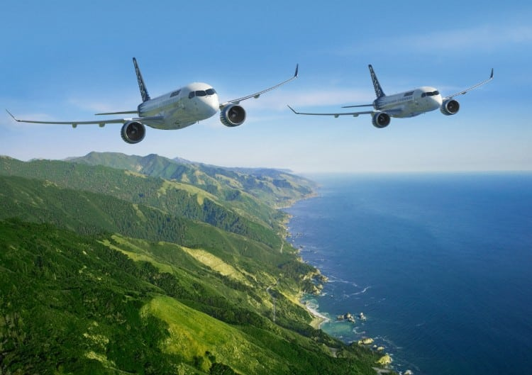 Bombardier C Series aircraft