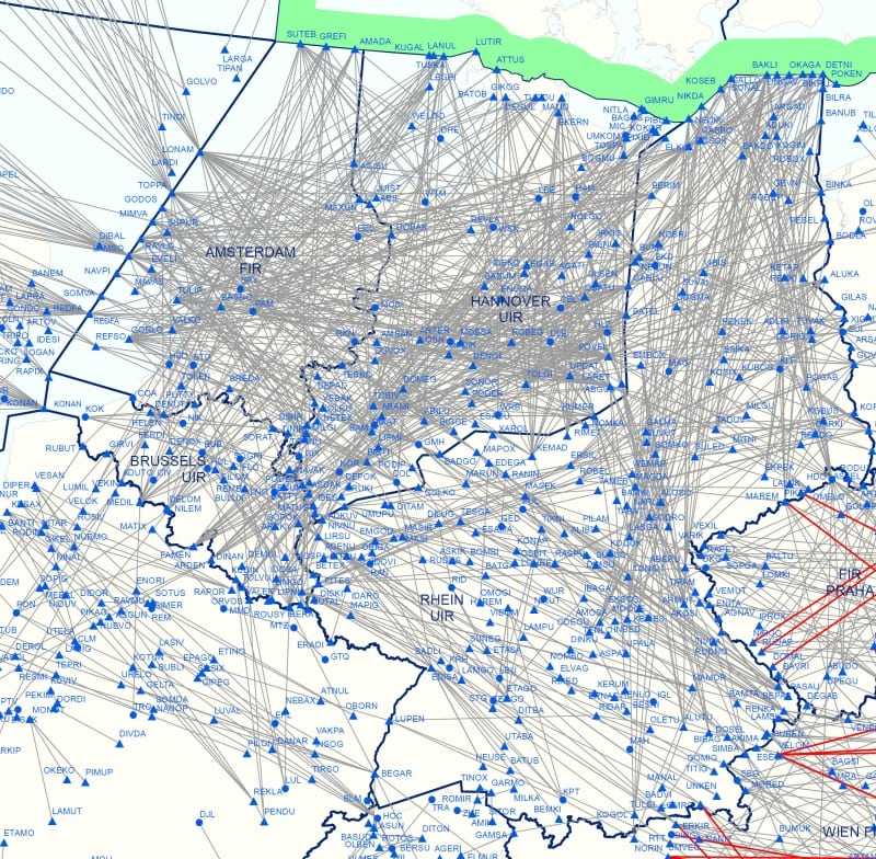The Free Route Airspace Maastricht and Karlsruhe project spanning the airspace over Belgium, Germany, Luxembourg and the Netherlands