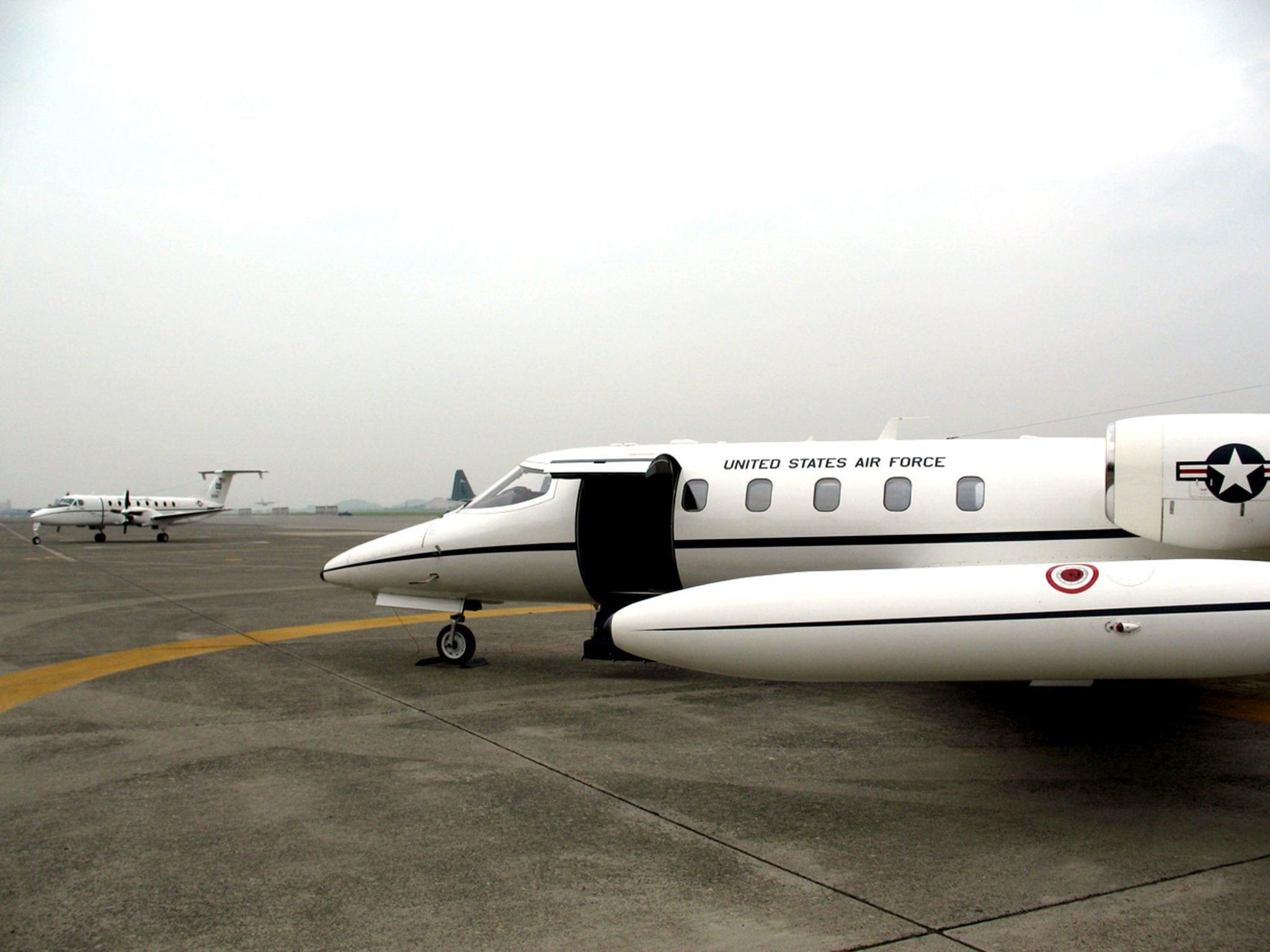 C-21A aircraft