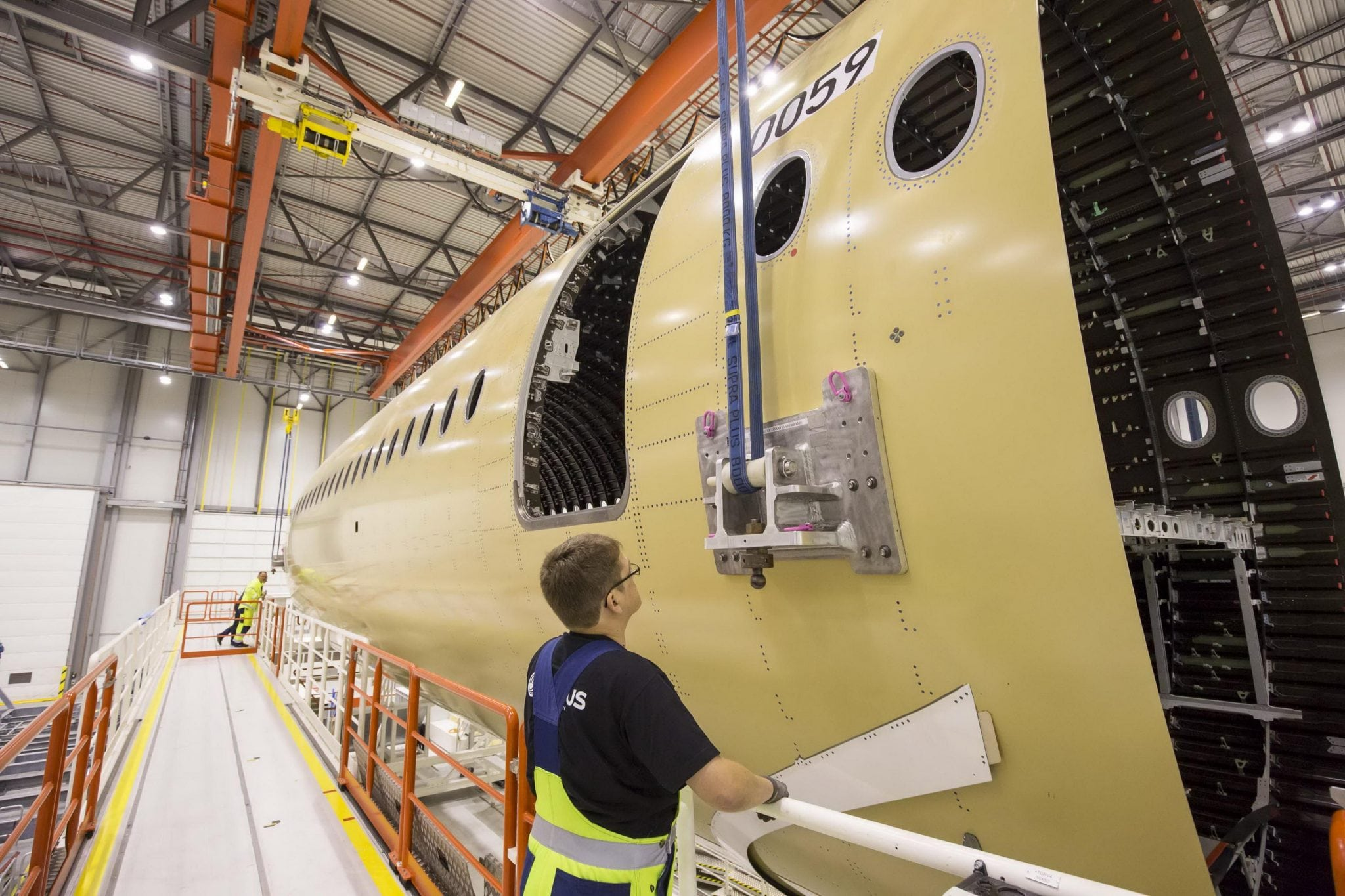 Assembly of the A350-1000 fuselage