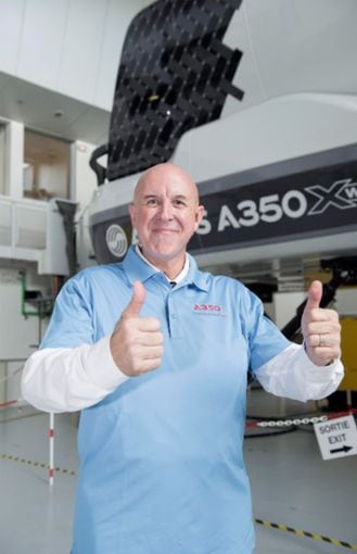American Airlines' John Dudley, the first FAA certified A350 XWB pilot