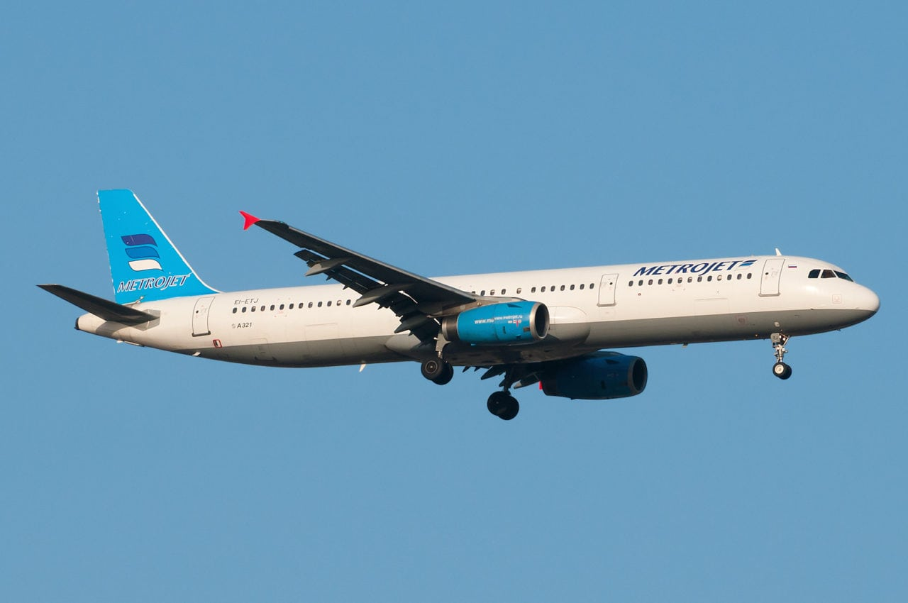 The aircraft involved in the Metrojet 9268 crash