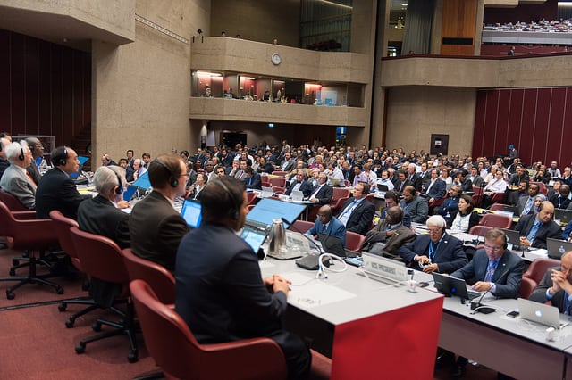 Participants at the WRC-15 conference in Geneva. Photo: ITU