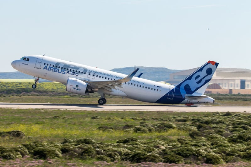 Newly certified A320neo variant jetliner