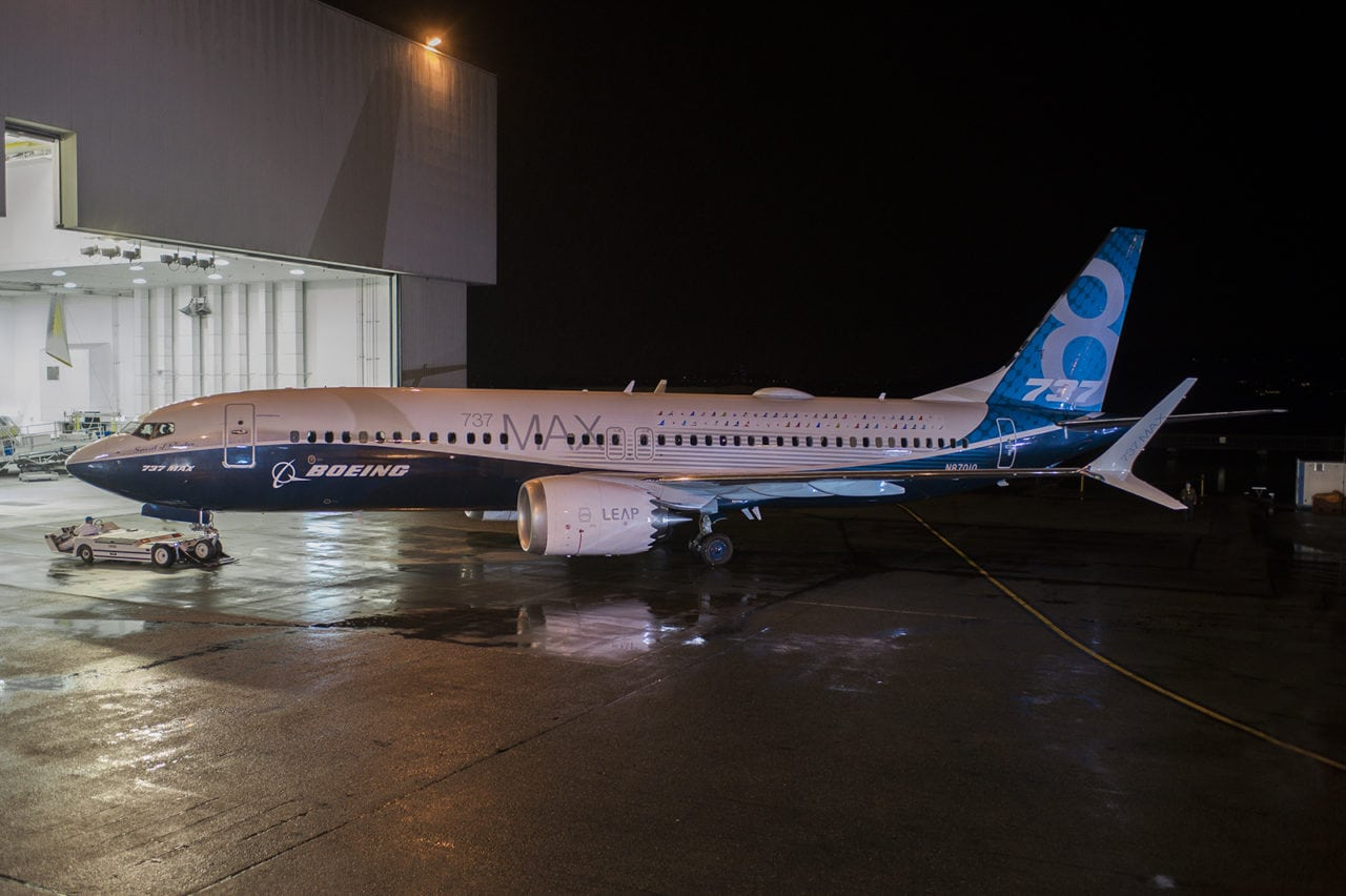 Boeing's first completed 787 MAX 8