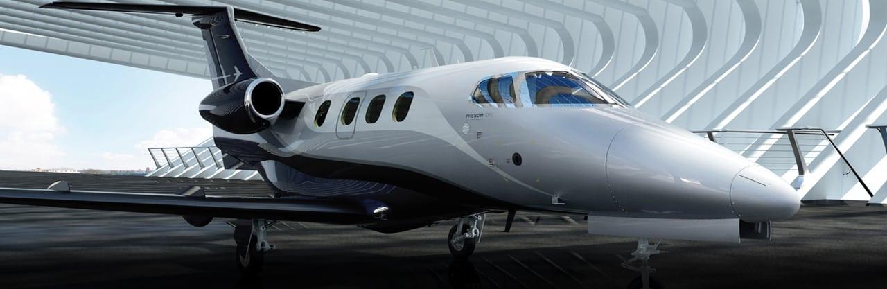 Embraer's Phenom 100E.