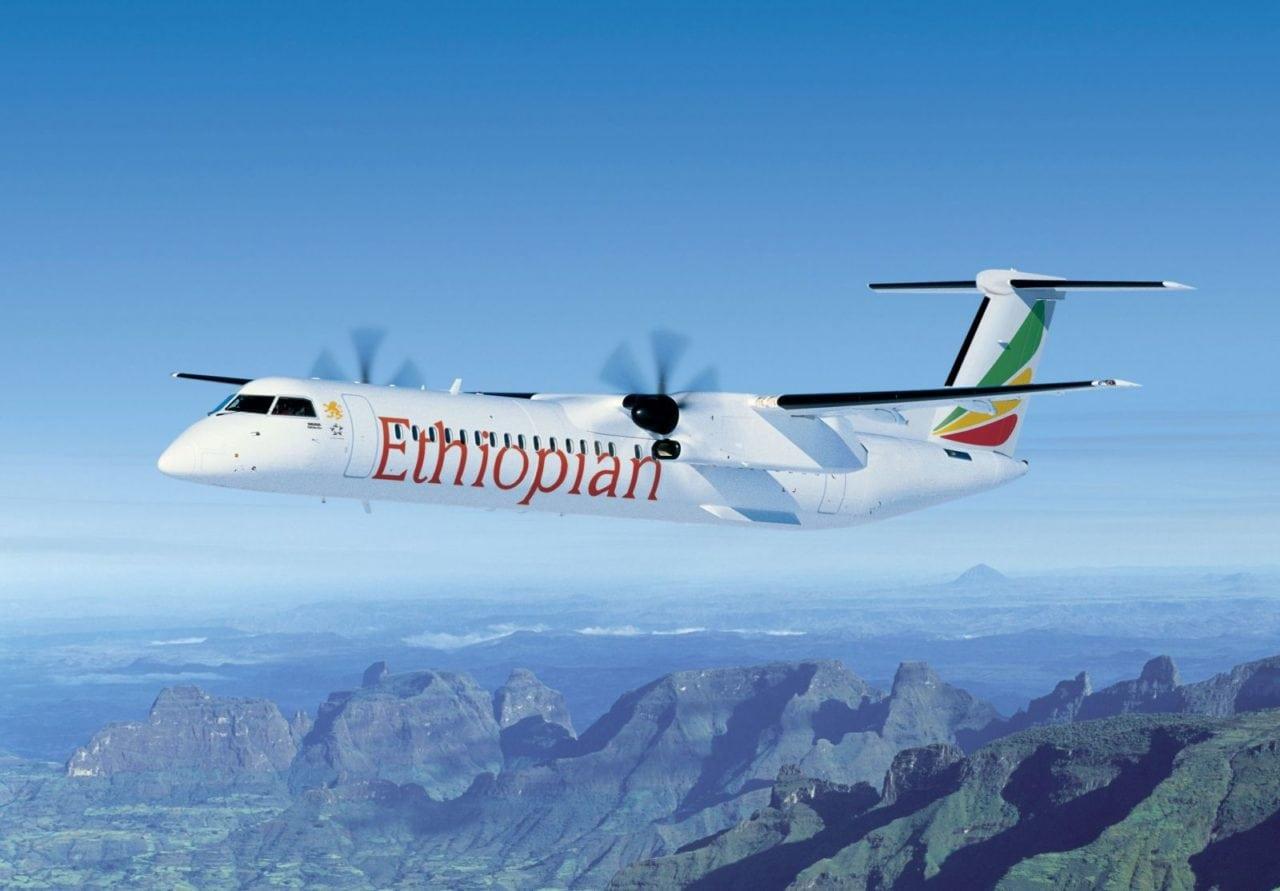 Ethiopian Airlines Q400 aircraft