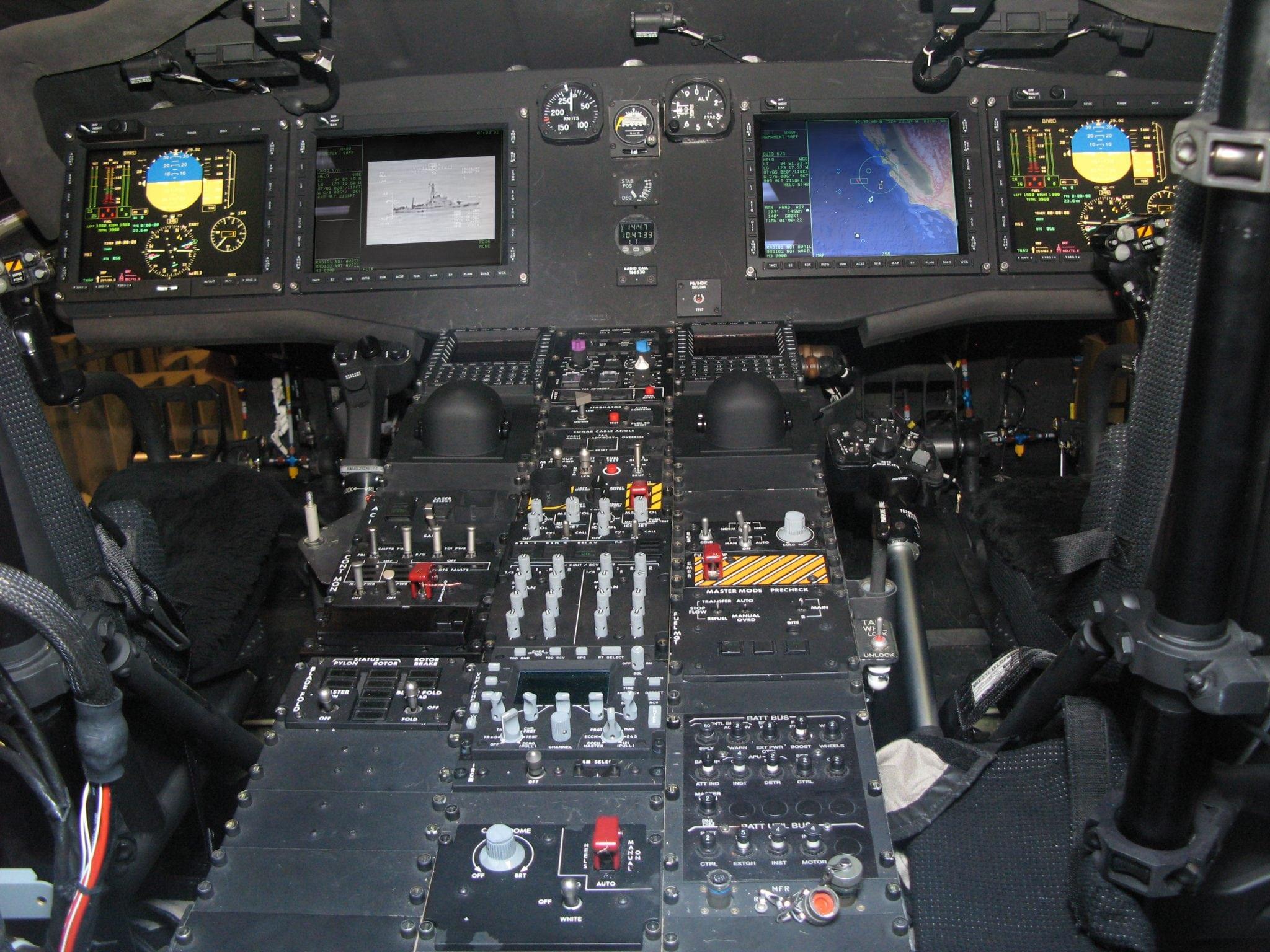 MH-60R cockpit