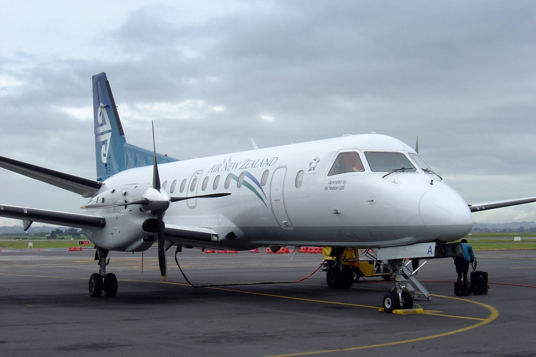 Saab 340 aircraft for which Thomas Global Systems will deliver TFD 8601 cockpit display replacements