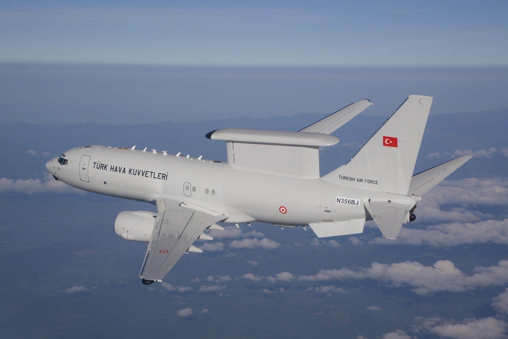 Boeing delivered the fourth and final Airborne Early Warning & Control Peace Eagle to Turkey