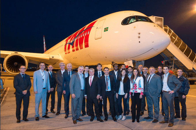 TAM Airlines receiving its first A350 XWB