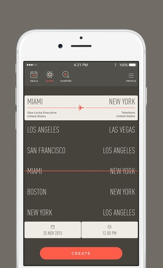 The JetSmarter app