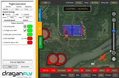 The Ping network at work with Draganfly Innovations' Surveyor GS