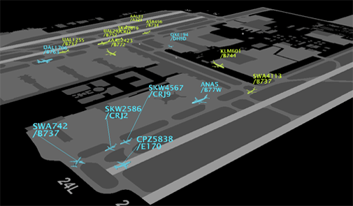Rendering of airport surface operations