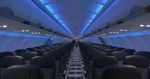 JetBlue's new A320 redesigned cabin