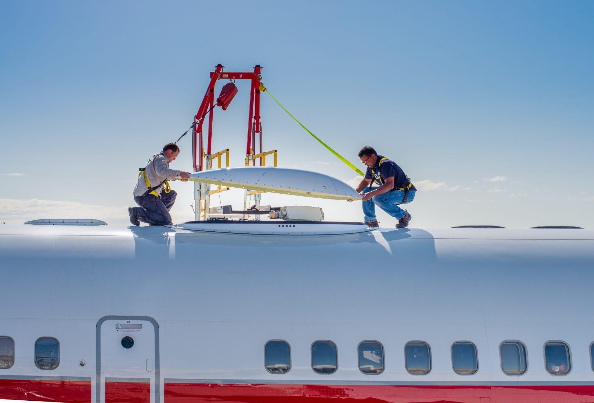 JetWave Hardware for GX Aviation installation on Honeywell Boeing 757 test aircraft