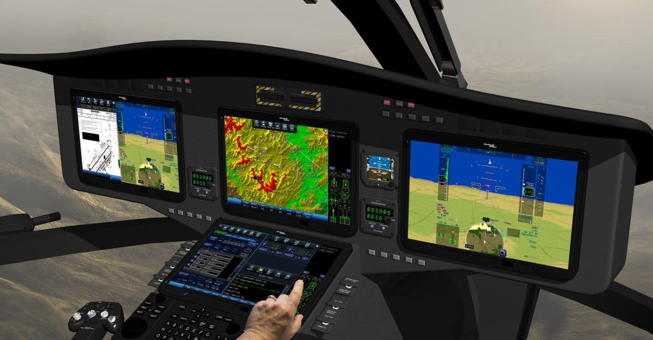 Rockwell Collins Pro Line Fusion rotorcraft flight deck