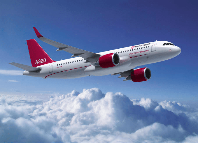 BOC Aviation A320, rendering